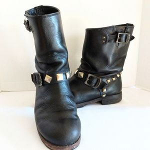 Frye Rogan Motorcycle Boots with Studs Size 8